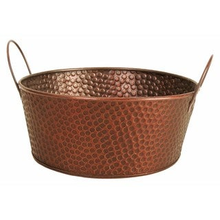"Link to Wald Imports Round Copper Hammered Metal 10.5"" Beverage Bucket Tub Similar Items in Decorative Accessories"