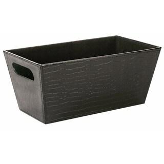 Wald Imports Faux Leather Decorative Storage Organizer Tray