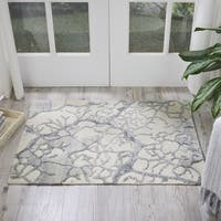 Nourison Divine Ivory Abstract Area Rug (2'3 x 3')