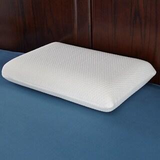 St. James Home Memory Foam Pillow with Hexagon Jacquard - White