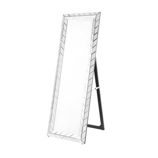 Sparkle 63 in. Contemporary Standing Full length Mirror in Clear