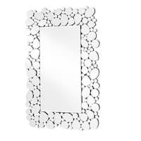 Sparkle 35 in. Contemporary Rectangle Mirror in Clear