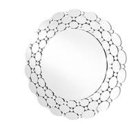 Sparkle 35 in. Contemporary Round Mirror in Clear