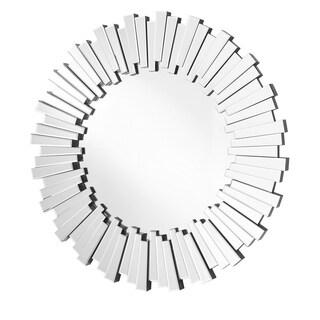 Sparkle Contemporary 39.5-inch Glass Round Mirror