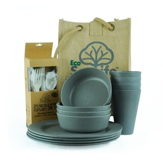 EcoSouLife Bamboo - Picnic Set for 4, Charcoal