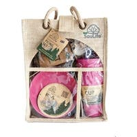 EcoSouLife Bamboo - Picnic Set for 4, Pink