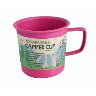 EcoSouLife Bamboo - Camper Cup 14 Oz., Pink