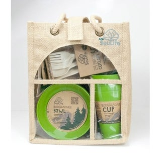 EcoSouLife Bamboo - Picnic Set for 4, Green
