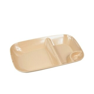 EcoSouLife Bamboo - BBQ Plate, Almond