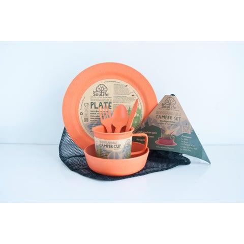 EcoSouLife Bamboo - Camper Set LG, Orange