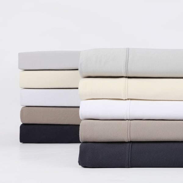 Exclusive Fabrics Premium Combed Cotton Jersey Bed Sheet Set With Aloe Vera  Treatment (Sheet Set