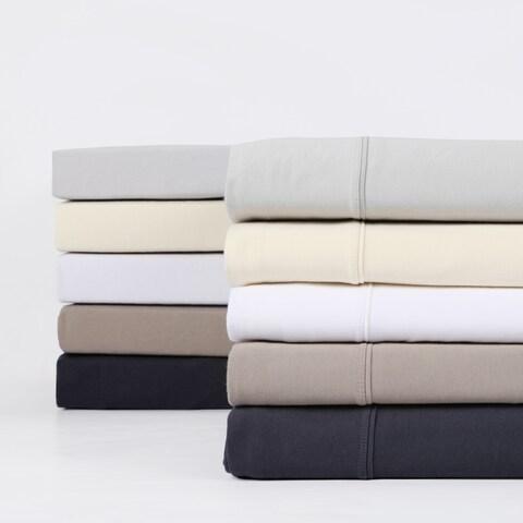 Exclusive Fabrics Premium Combed Cotton Jersey Bed Sheet Set with Aloe Vera Treatment (Sheet Set)