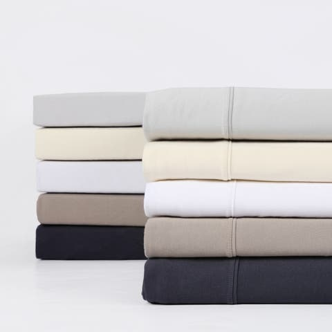 Exclusive Fabrics Premium Combed Cotton Jersey Bed Sheet Set with Aloe Vera Treatment (Sheet Set)