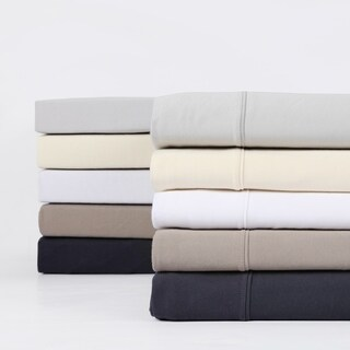 Exclusive Fabrics Premium Combed Cotton Jersey Bed Sheet Set with Aloe Vera Treatment (Sheet Set) (More options available)