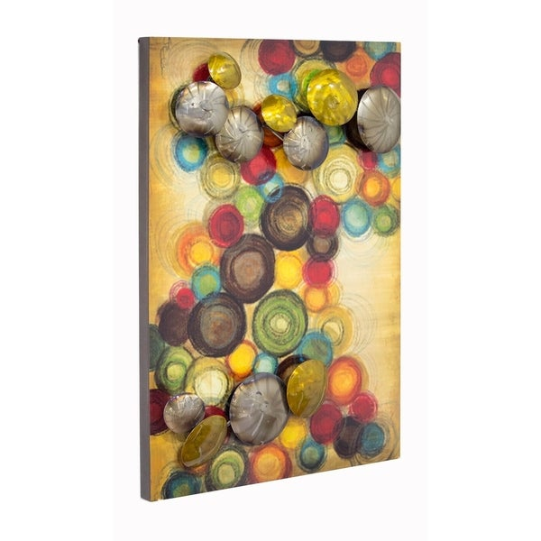 Cirque Small Vertical Wall Panel with 3D Metal Circles - Free ...