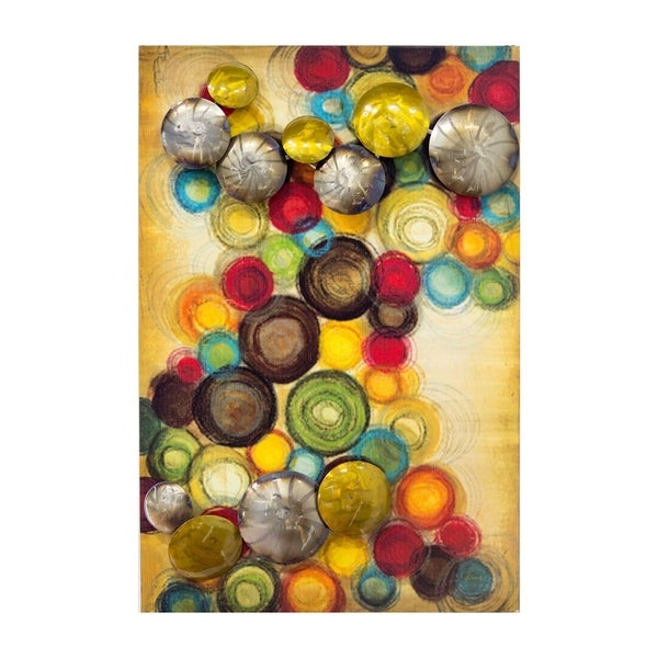Fine Stratton Home Decor Multicolored Circles Metal Wall Decor ...