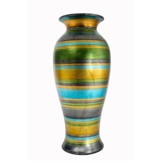 """Stripes 21"""" Ceramic Vase"""