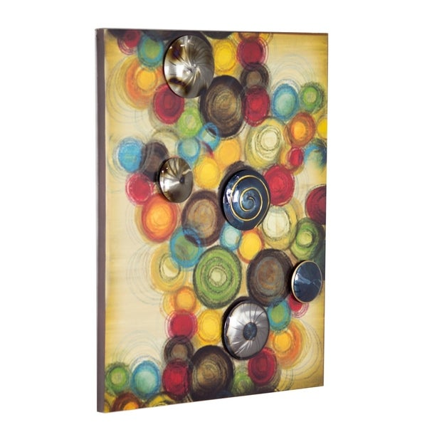 Shop Cirque Large Vertical Wall Art Panel with 3D Metal Circles - On ...