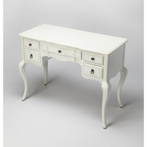 Handmade Sadie Cottage White Writing Desk