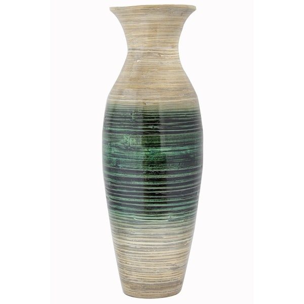 Shop Kelly 29 Spun Bamboo Floor Vase Free Shipping Today