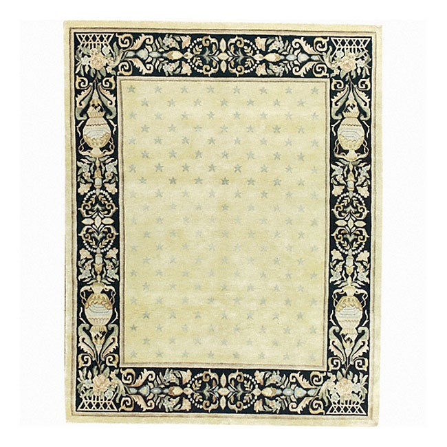 Nourison Hand-knotted Court of Versailles Gold Wool Rug - 5'6 x 8'6