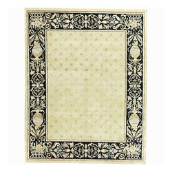 Nourison Hand-knotted Court of Versailles Gold Wool Rug (5'6 x 8'6)