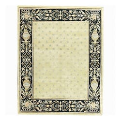Nourison Hand-knotted Court of Versailles Gold Wool Rug - 5'6 x 8'6 - Thumbnail 0