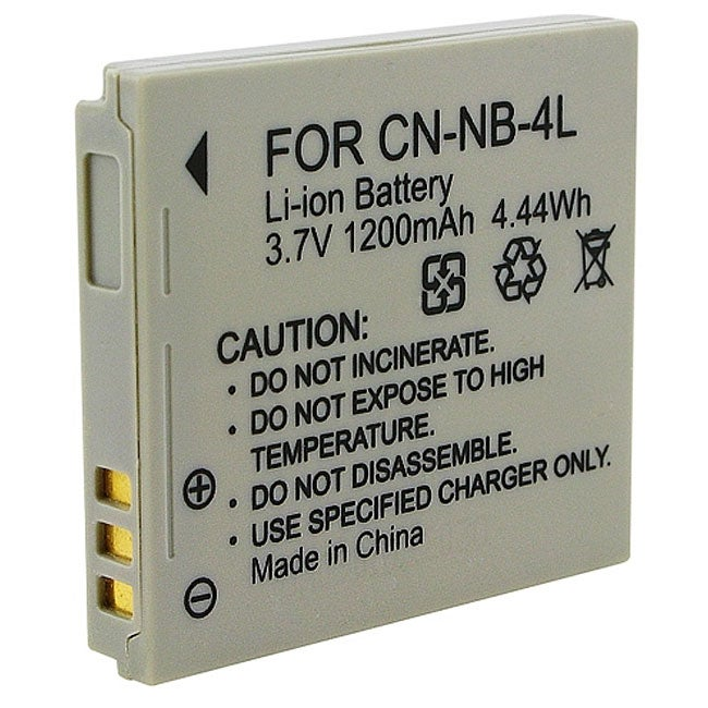 Insten Rechargeable Battery NB-4L for Canon Digital IXUS 230 HS/ 60/ 65/ 70/ 75/ i7