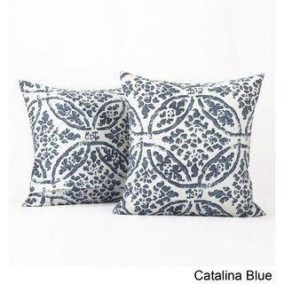 Exclusive Fabrics Catalina Printed Cotton Cushion Cover- PAIR