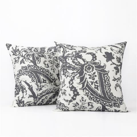 Exclusive Fabrics Edina Printed Cotton Cushion Cover- PAIR
