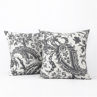 Exclusive Fabrics Edina Printed Cotton Cushion Cover- PAIR
