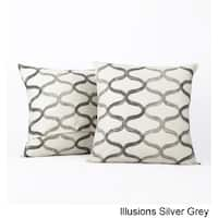 Exclusive Fabrics Illusions Printed Cotton Cushion Cover- PAIR