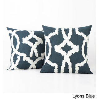 Exclusive Fabrics Lyons Printed Cotton Cushion Cover- PAIR