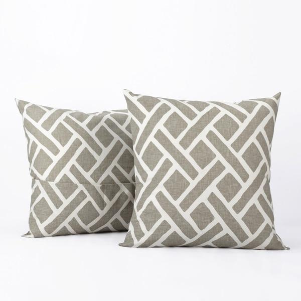 Exclusive Fabrics Martinique Printed Cotton Cushion Cover- PAIR