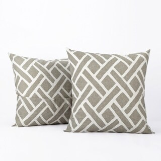 Exclusive Fabrics Martinique Printed Cotton Cushion Cover- PAIR