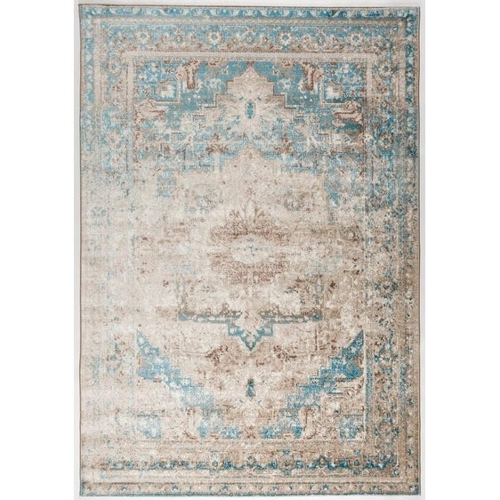 Antep Rugs Bosphorus Collection Olympus Blue Area Rug 7 10 X 9 Free Shipping Today 25278345
