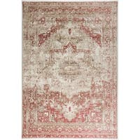"""Antep Rugs  Bosphorus Collection  Olympus N/A  Area Rug PINK 7'10"""" X 10'9"""" - 7'10"""" x 10'9"""""""