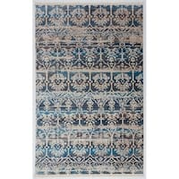 """Antep Rugs Comfort Zone Collection Anatolian Art  Floral  Area Rug Blue 8' X 10' 2"""" - 8' x 10' 2"""""""