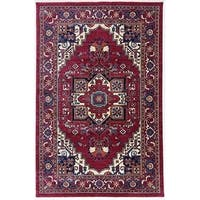 Antep Rugs ORIENTAL Collection TEBRIZ Oriental Area Rug RED/IVORY - 8' x 10'