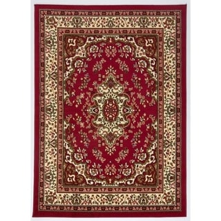 Antep Rugs Kashan King Collection HIMALAYAS Oriental  Area Rug Maroon and Beige 8' X 10' - 8' x 10'