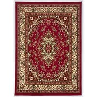 Antep Rugs Kashan King Collection HIMALAYAS Oriental Area Rug Maroon and Beige - 8' x 10'