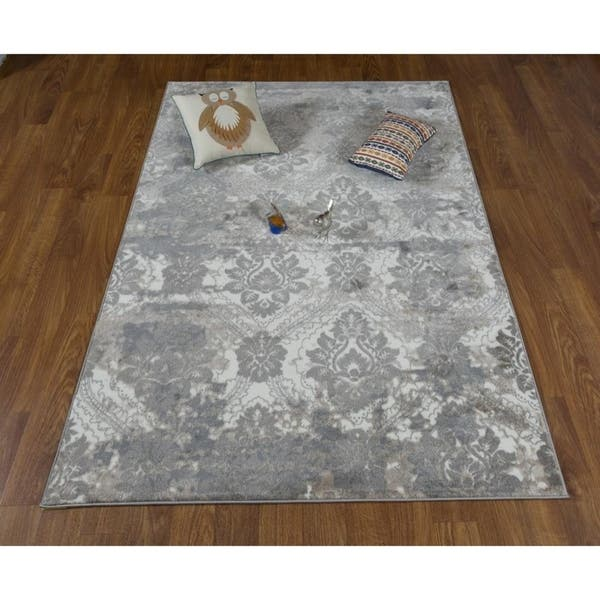Antep Rugs Bosphorus Collection Autumn Floral Area Rug Gray Cream 7 10 X 10 9 Overstock 19257036