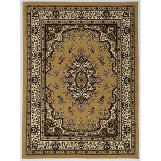 Antep Rugs Kashan King Collection HIMALAYAS Oriental Area Rug Beige and Black 8' X 10' - 8' x 10'