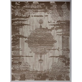 """Antep Rugs Zeugma Collection 288 N/A  Area Rug Cream Brown 7'10"""" X 10' - 7'10"""" x 10'"""