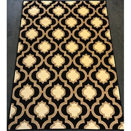 Antep Rugs Kashan King Collection 505 Trellis Area Rug Black And Cream