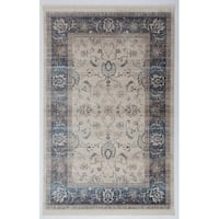 Antep Rugs Comfort Zone Collection Nomad Floral Area Rug Bone - 5' x 7'8""