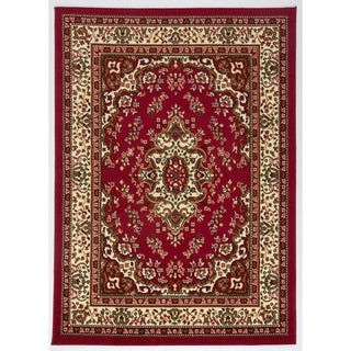 Antep Rugs Kashan King Collection HIMALAYAS Oriental  Area Rug Maroon and Beige 5' X 7'