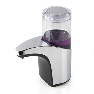 Mind Reader Automatic Touchless Silvertone Hand Soap Dispenser with Clear Chamber