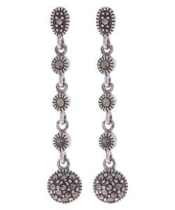Glitzy Rocks Sterling Silver Marcasite Earring