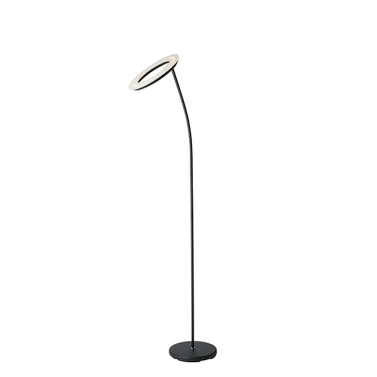 """73"""" in Matte Black LED Halo Torchiere Floor Lamp"""